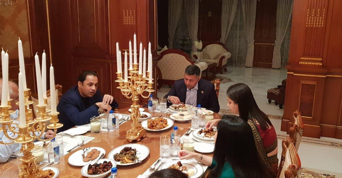 Courtesy family dinner with Indian  High commissioner, Vikram Doraiswami. In my house..