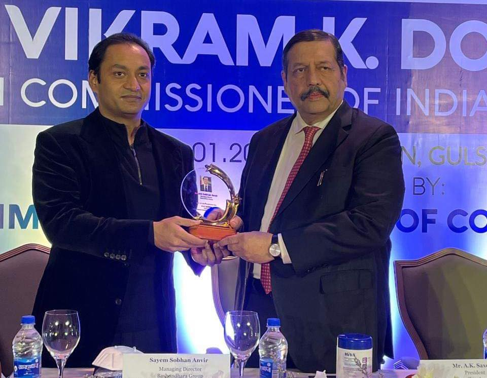 Welcome dinner in Westin hotel Dhaka for Indian  High Commisioner 'Vikram K Doraiswami' organised by the Indian Importers Chambers of Commerce and Industry.