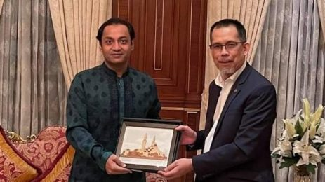 Dinner hosted at my residence for His Excellency Mr. Haji Haris Othman High Commissioner of Brunei Darussalam to Bangladesh .
