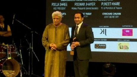 Sayem Sobhan honoured with Dadasaheb Phalke Excellence Awards 2017 in Media