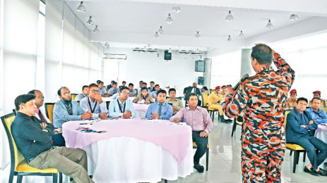 Training on fire safety begins at ICCB