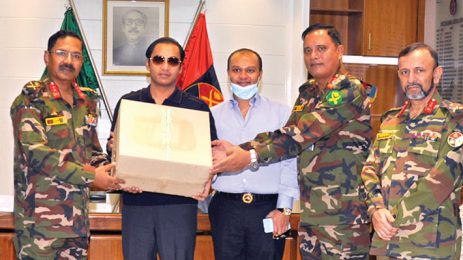 Sayem Sobhan Anvir Hands Over PPE And Masks To The Director General Of DGMS