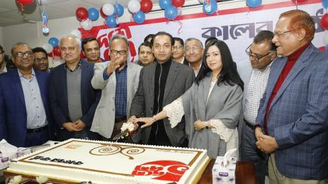 Sayem Sobhan Anvir Inaugurated the Tenth Founding Anniversary Celebration of Kaler Kantho