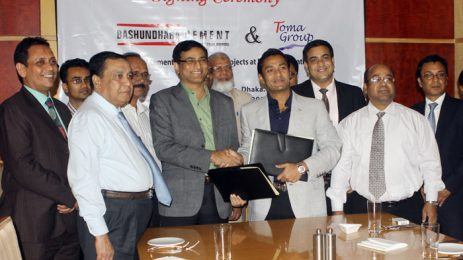Sayem Sobhan Anvir, the Managing Director of Bashundhara Group and Toma Group — signed the agreement.